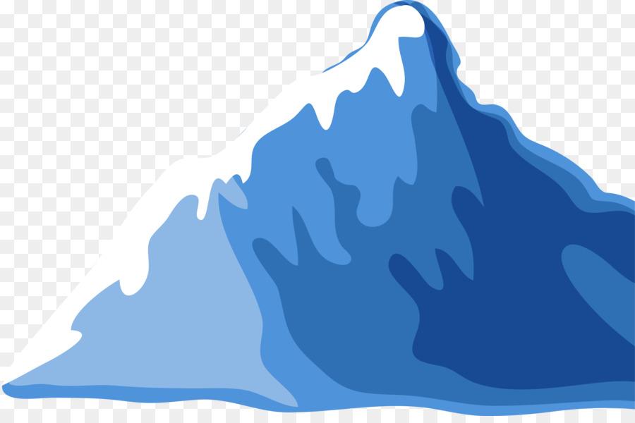 Drawing Mountain Cartoon - Blue Fresh Iceberg png download - 3001
