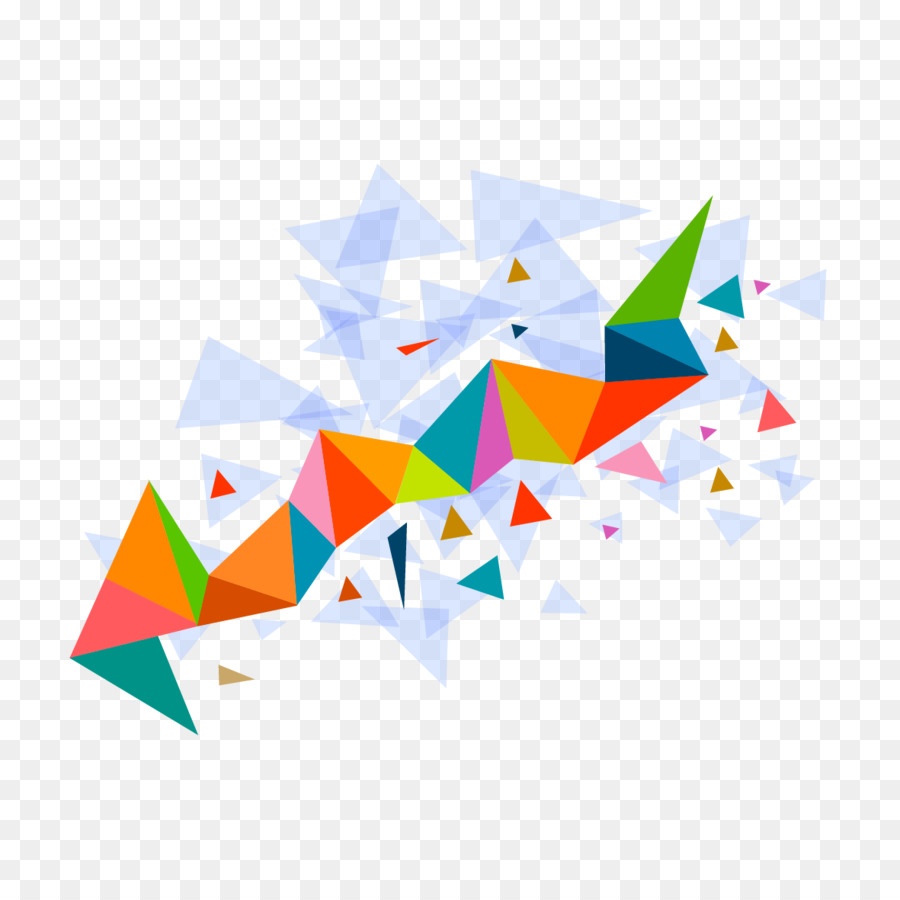Retro Girl Wallpaper Hd Color Triangle Vector Triangle Mosaic Pattern Png