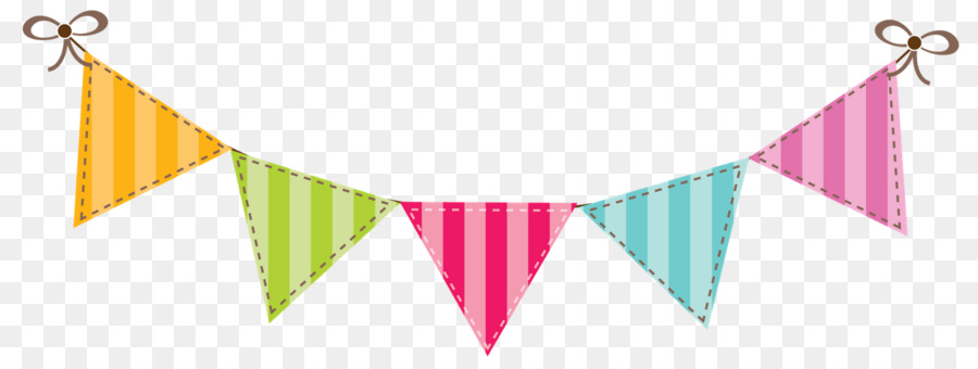 Banner Flag Bunting Color Clip art - Birthday Banners Cliparts png