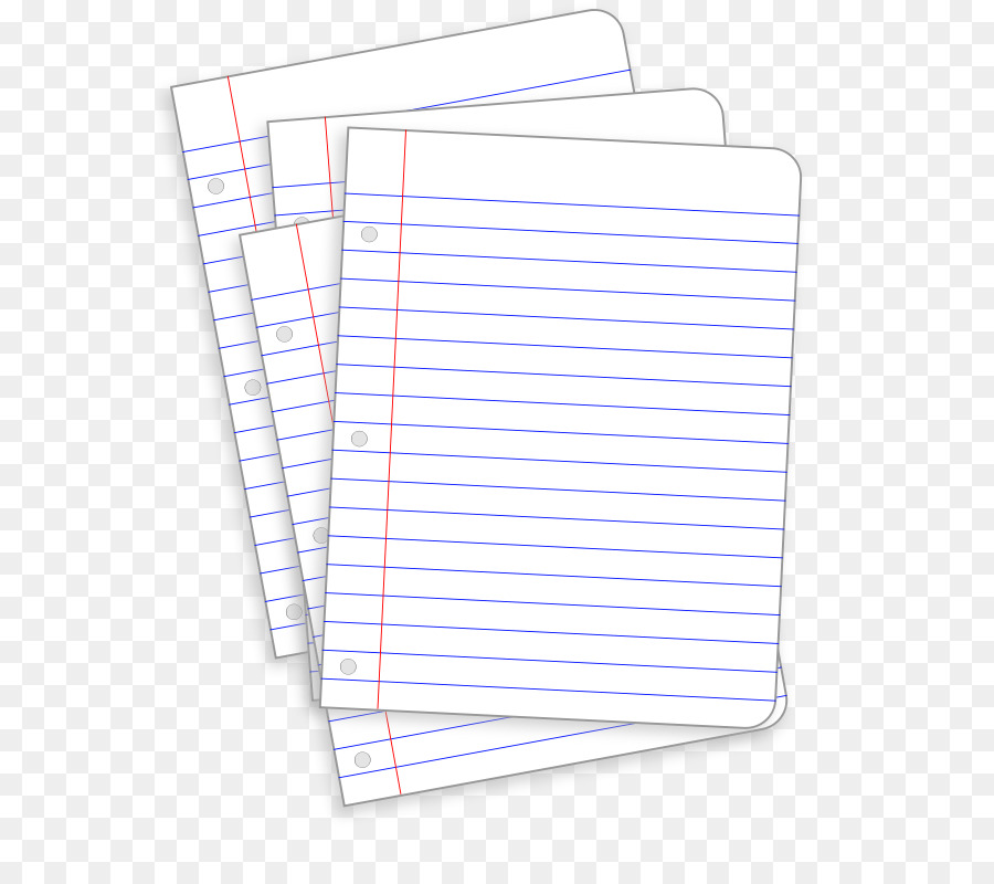 Ruled paper Notebook Clip art - Lined Paper Clipart png download