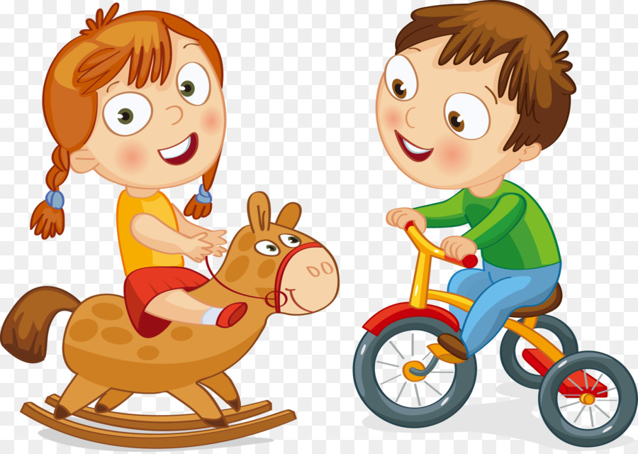 Bicycle Cycling Motorized tricycle Boy Clip art - Trojan bike - cartoon children play