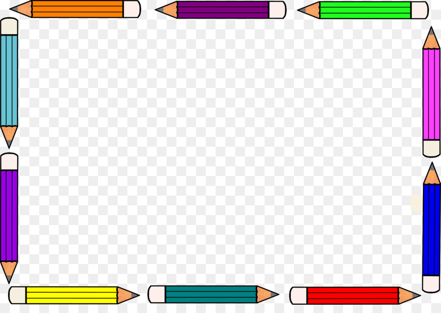 Paper Colored pencil Clip art - Pencil Frame Cliparts png download - colored writing paper