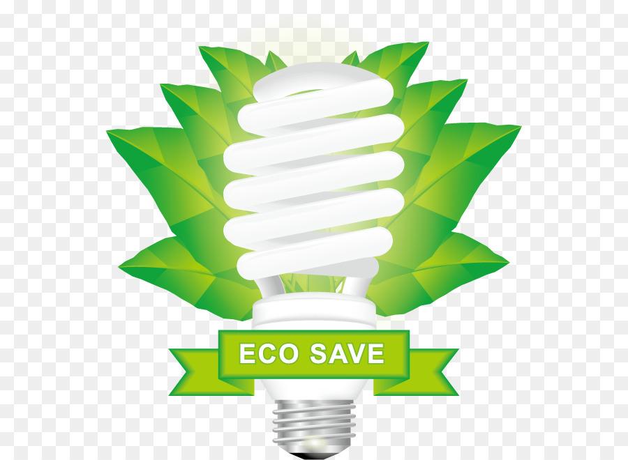 Green Energy Incandescent light bulb - Vector green light bulb png