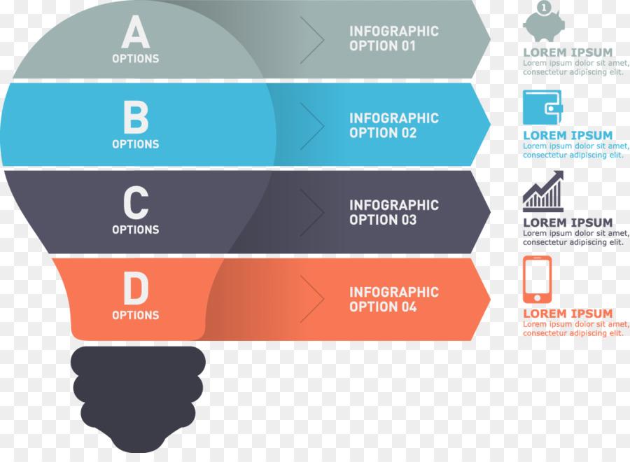 Incandescent light bulb Infographic Diagram - Vector bulb png