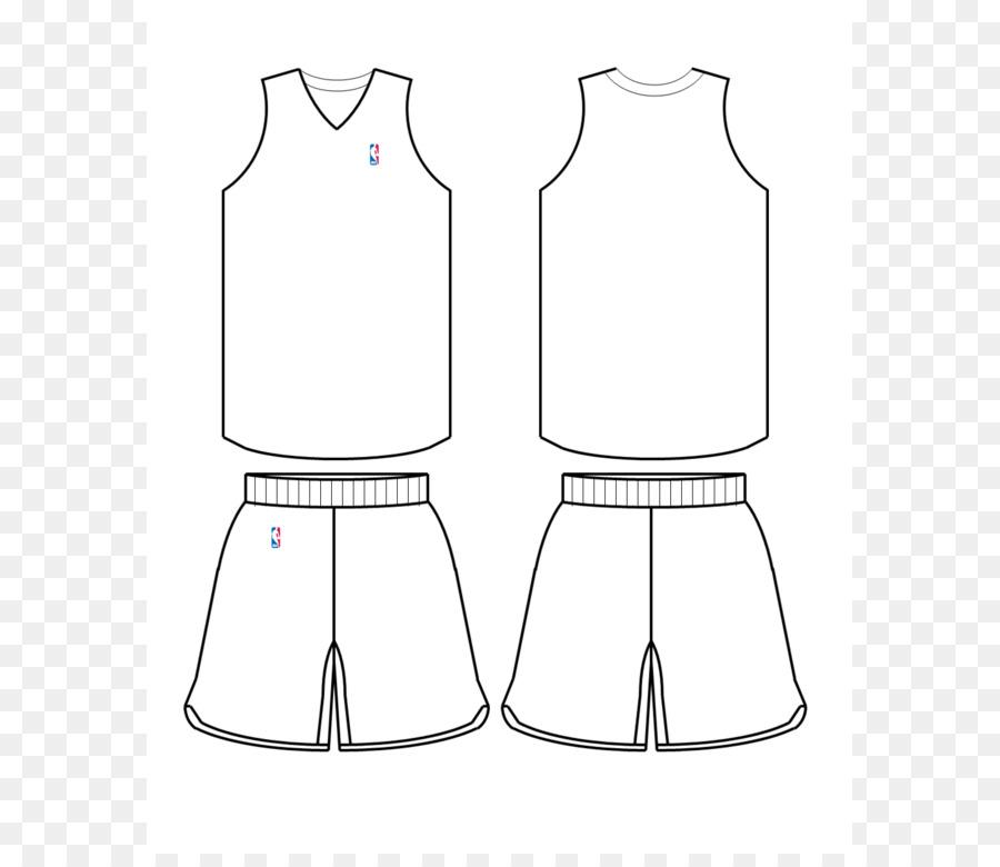 NBA Template Basketball uniform Jersey - Jersey Template png