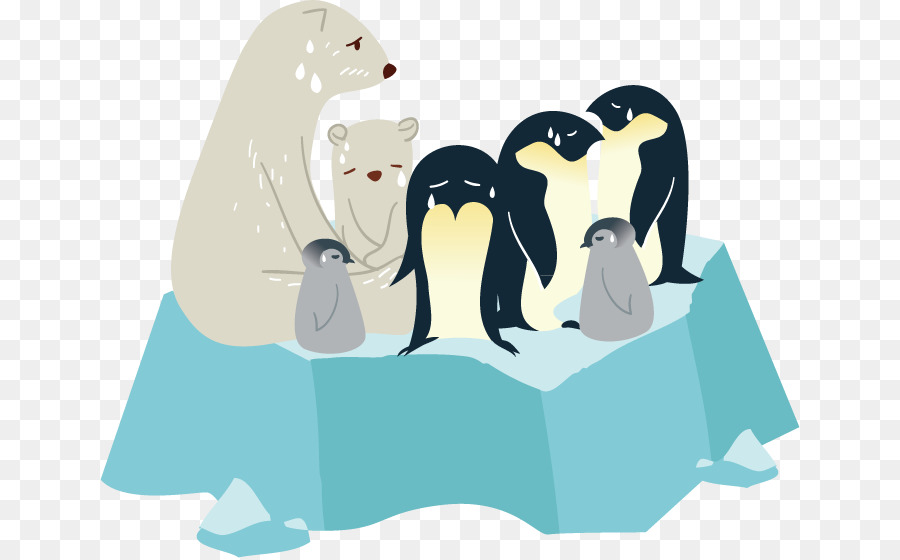 Microsoft PowerPoint Arctic Template Presentation slide - Penguins - penguin template