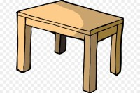 Table Cartoon Chair Household goods - table png download ...