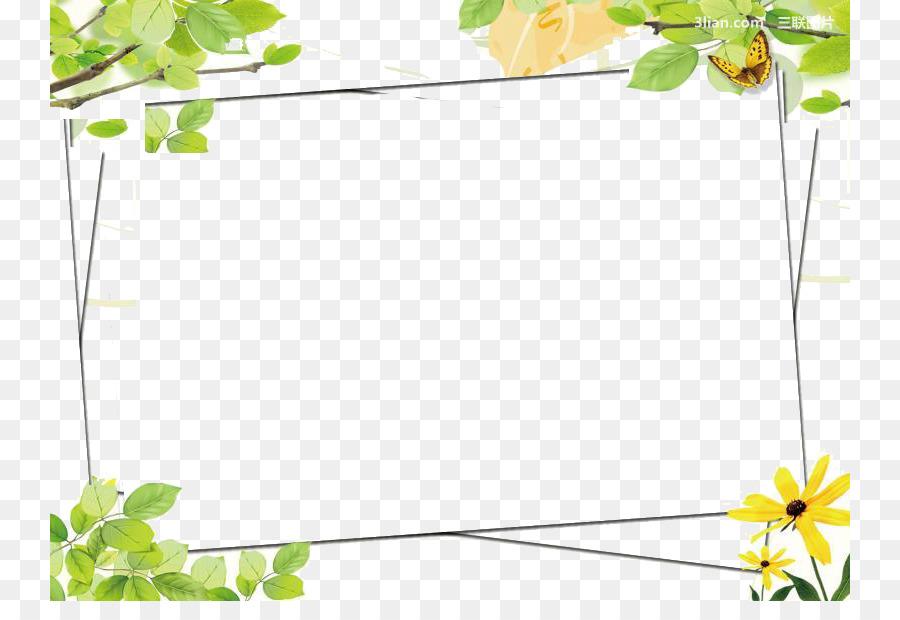 Green Google Images Color Clip art - Green flower frame png download