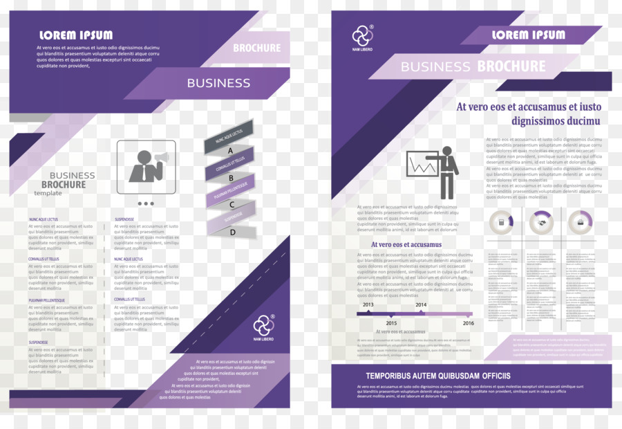 Brochure Flyer Poster - Fashion Business single page png download