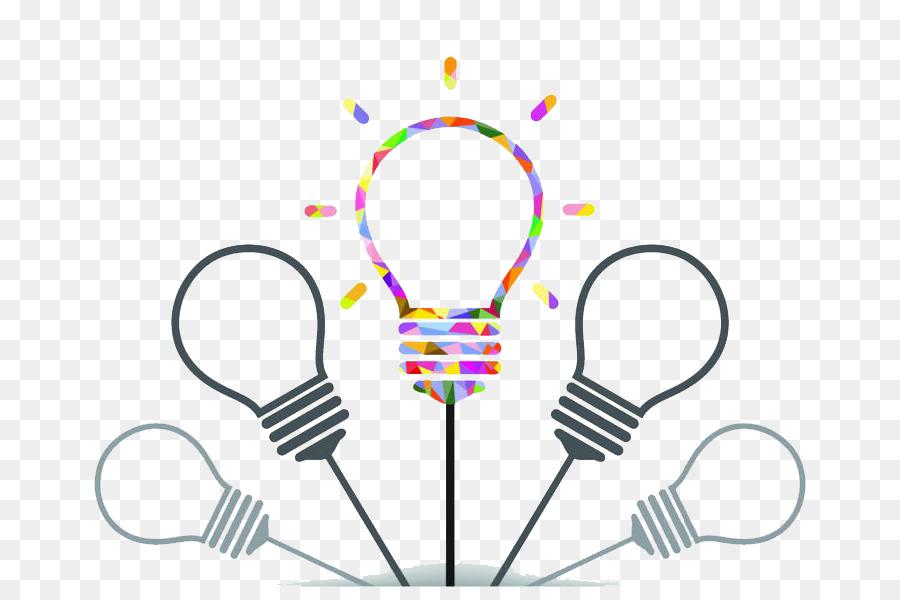 Incandescent light bulb Creativity Idea - Colored bulb png download