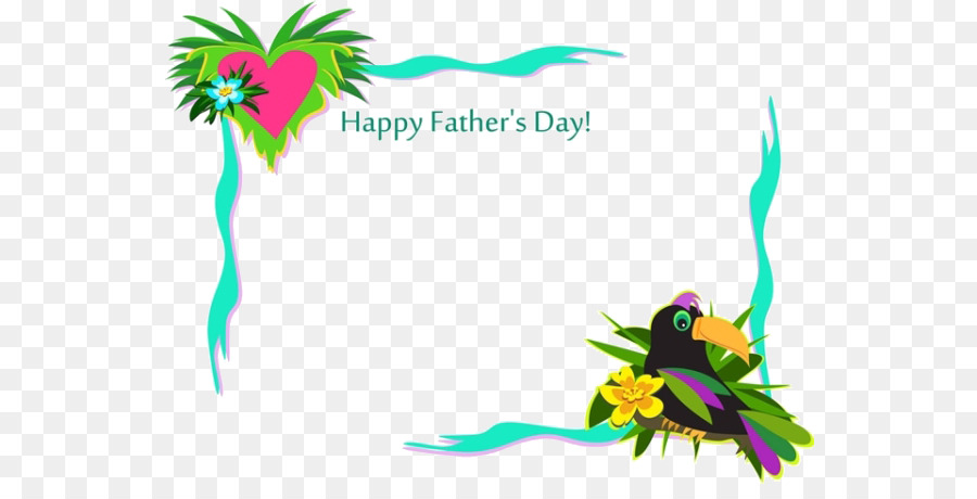 Borders and Frames Fathers Day Clip art - Cartoon bird border png