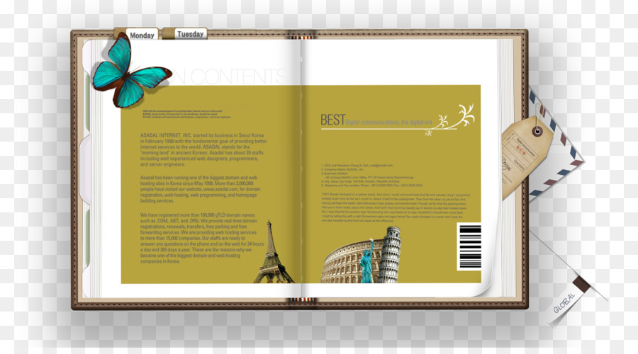 Bookmark Template - Free travel diary pull material png download - diary paper template