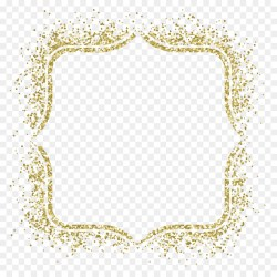 Small Crop Of Gold Glitter Border