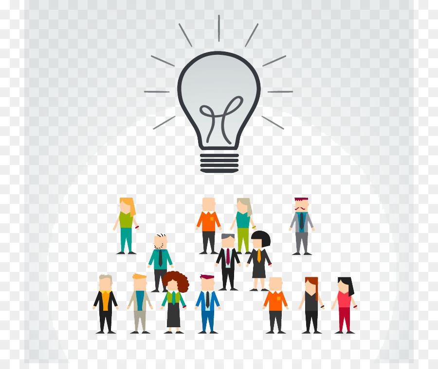 Incandescent light bulb Businessperson - Creative bulb png download