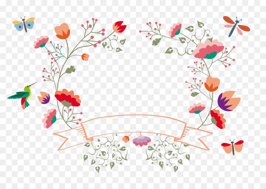 Flower Template Pattern - Vector floral decoration png download