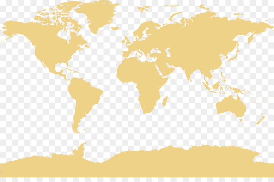 World map Globe Office - Pale yellow earth plate png download - 1540