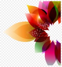 Color Flower Abstract art Floral design - Colorful ...