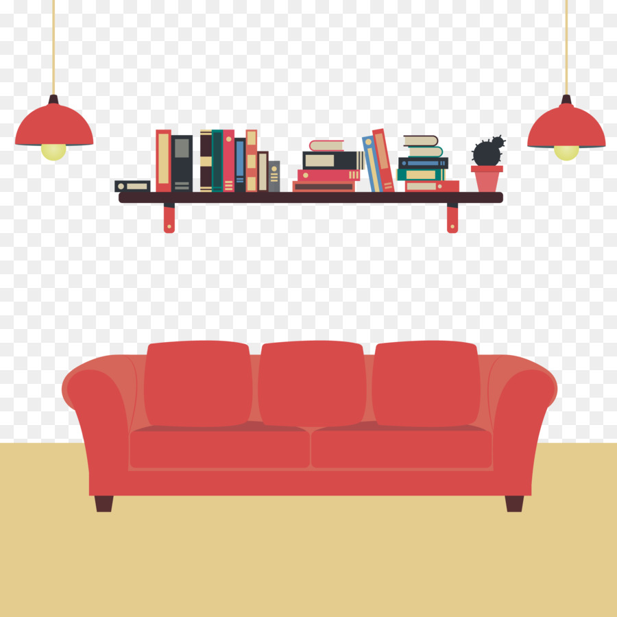 Sofa Vector Free Couch Television Picture Frame Book And Red Sofa Vector Material