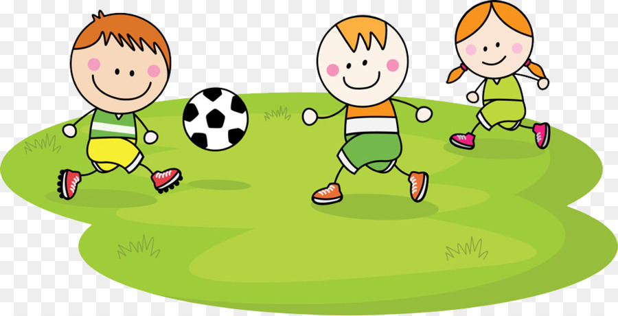 Child Football Cartoon - Children play png download - 1000*510 - cartoon children play