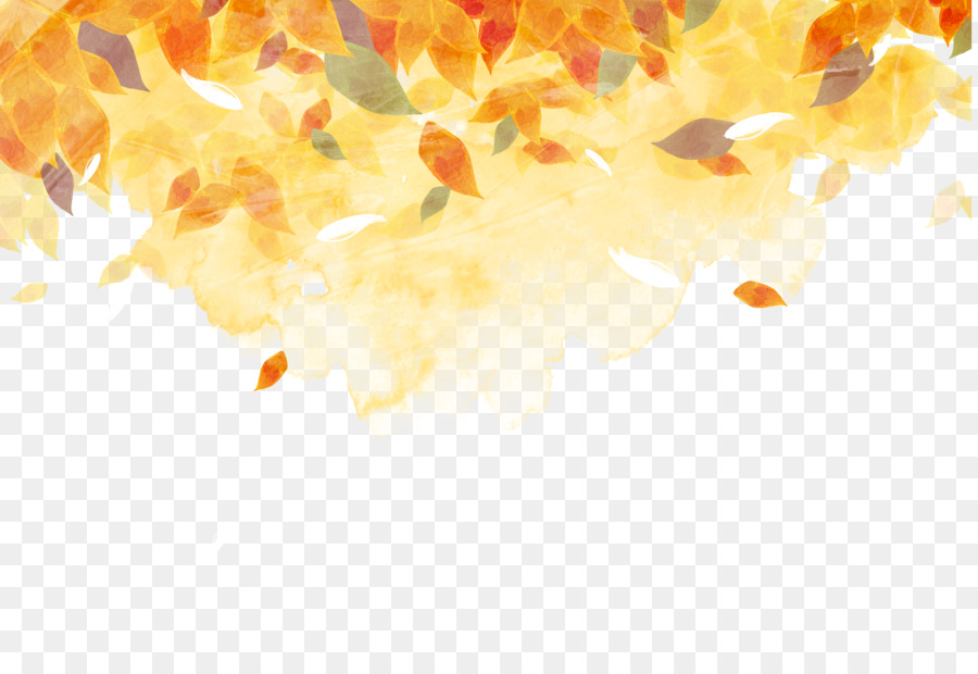 Maple Leaf Wallpaper For Fall Season Golden Autumn Watercolor Painting Autumn Leaf Color Ink