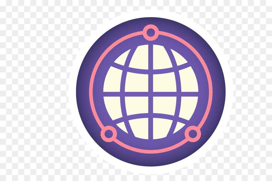 Scalable Vector Graphics Icon - Vector Purple Earth png download