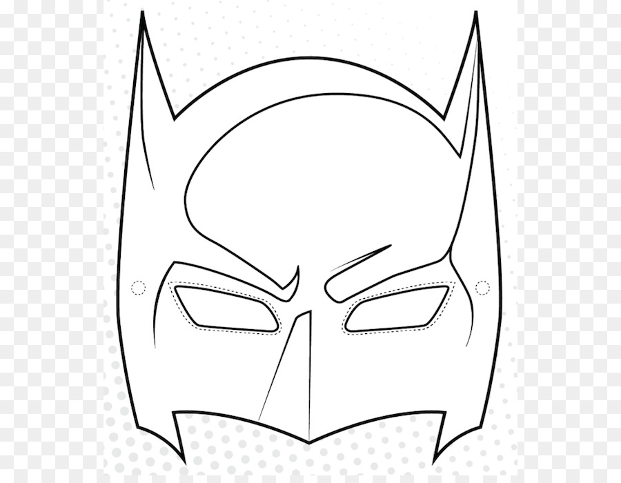Batman Mask Coloring book Drawing Superhero - batman symbol