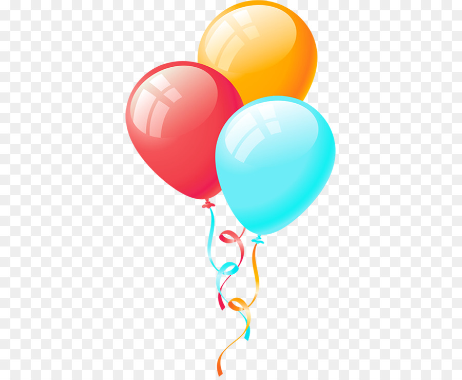 Balloon Birthday Party Clip art - Cartoon floating balloons png