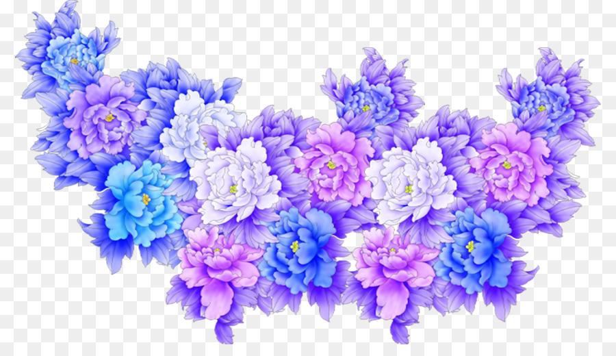 Flower Purple Blue Clip art - Flower cluster png download - 856*503