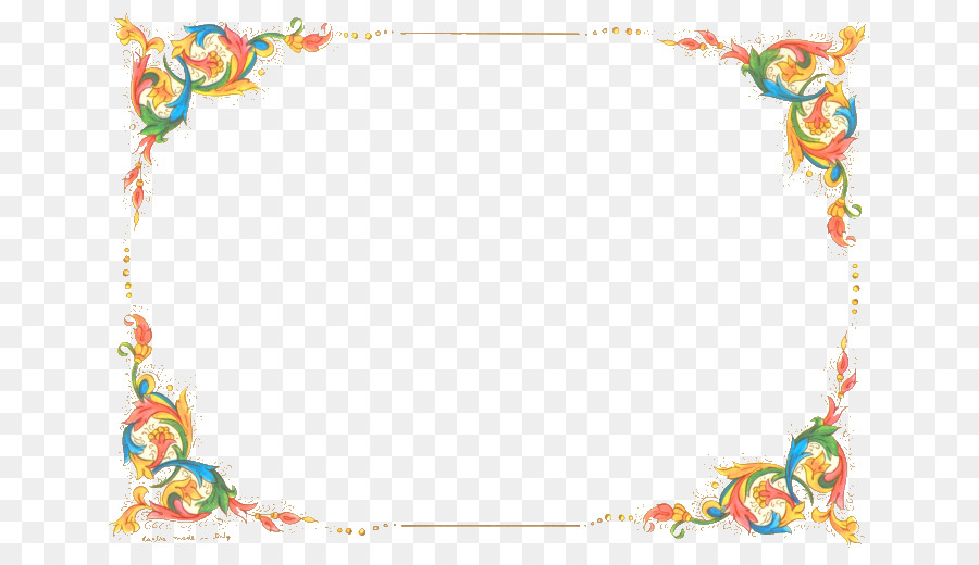 Microsoft Word Flower Clip art - Free Flowers Border png download - free border for word