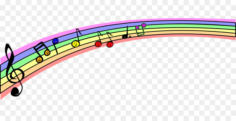 Musical note Clip art - Color notes and staves png download - 1000