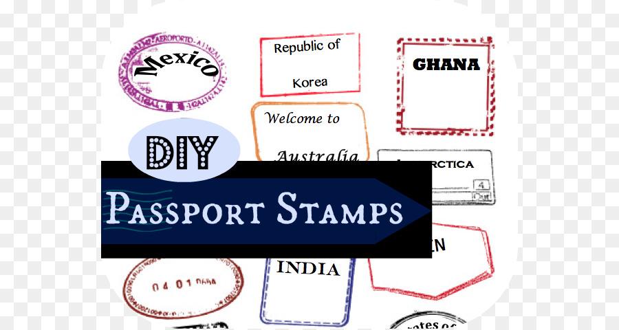 Passport stamp Template Australian passport Clip art - Passport - stamp template