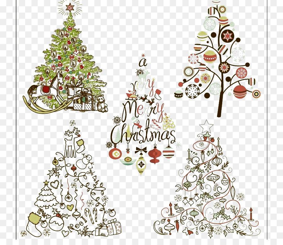 Santa Claus Christmas tree Christmas ornament Clip art - Elegant