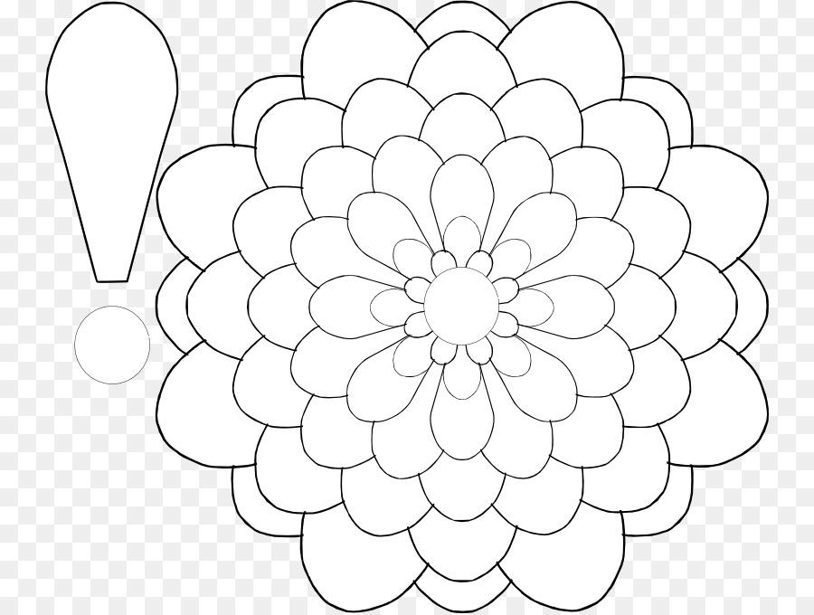 Floral design Paper Flower Petal Pattern - Flower Petals Template