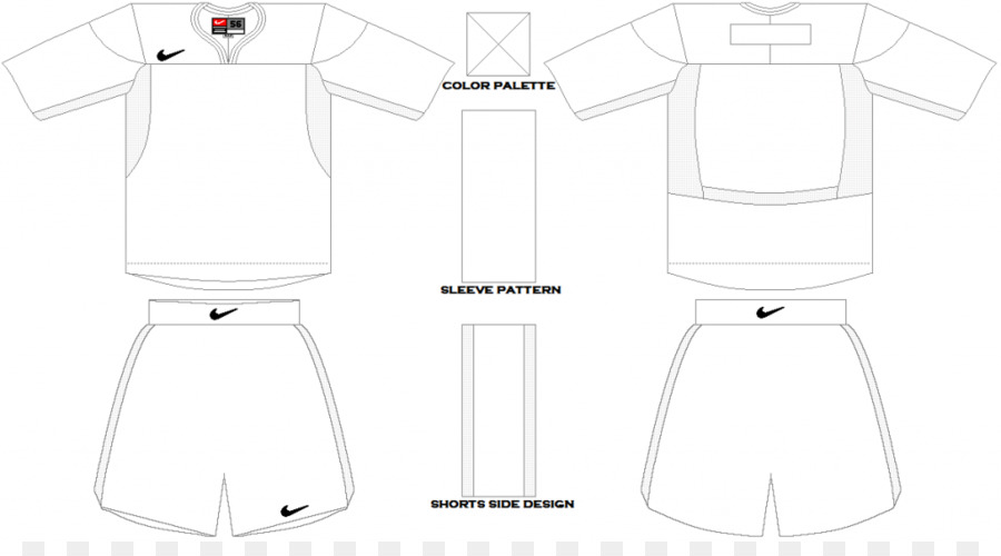 Sleeve Drawing Collar Neck Dress - Blank Soccer Jersey Template png
