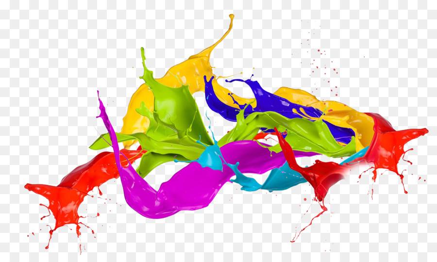 Free 3d Snow Falling Wallpaper Color Holi Clip Art Splash Png Transparent Png Download