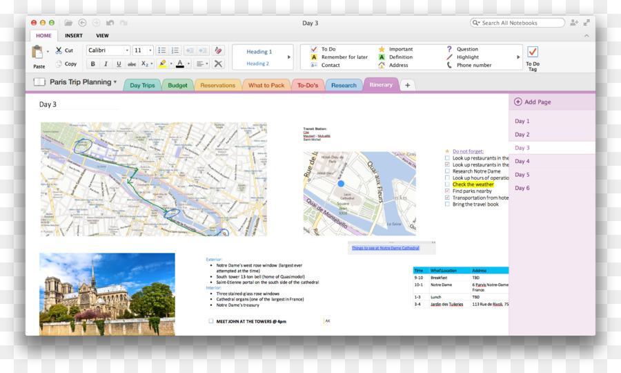 Microsoft OneNote macOS Microsoft Office Template - OneNote png
