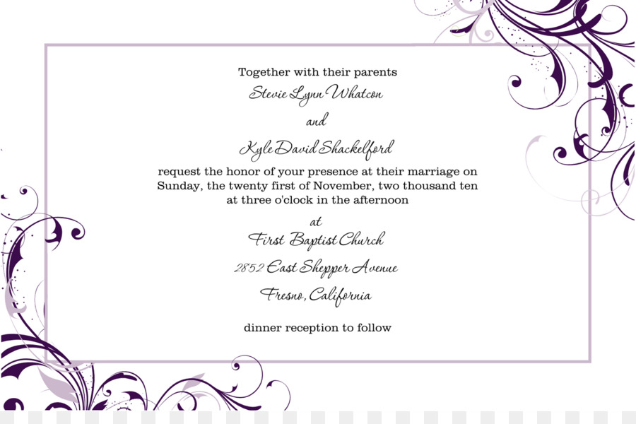 Wedding invitation Template Microsoft Word Paper - invitation png - invitation templates microsoft word