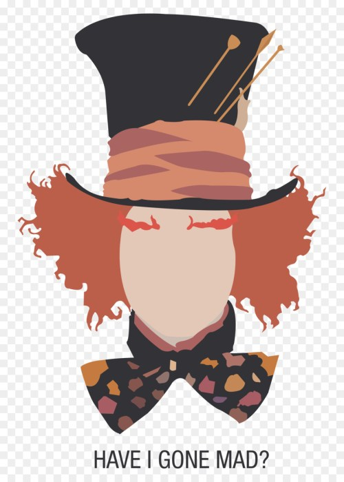 Medium Of Mad Hatter Silhouette