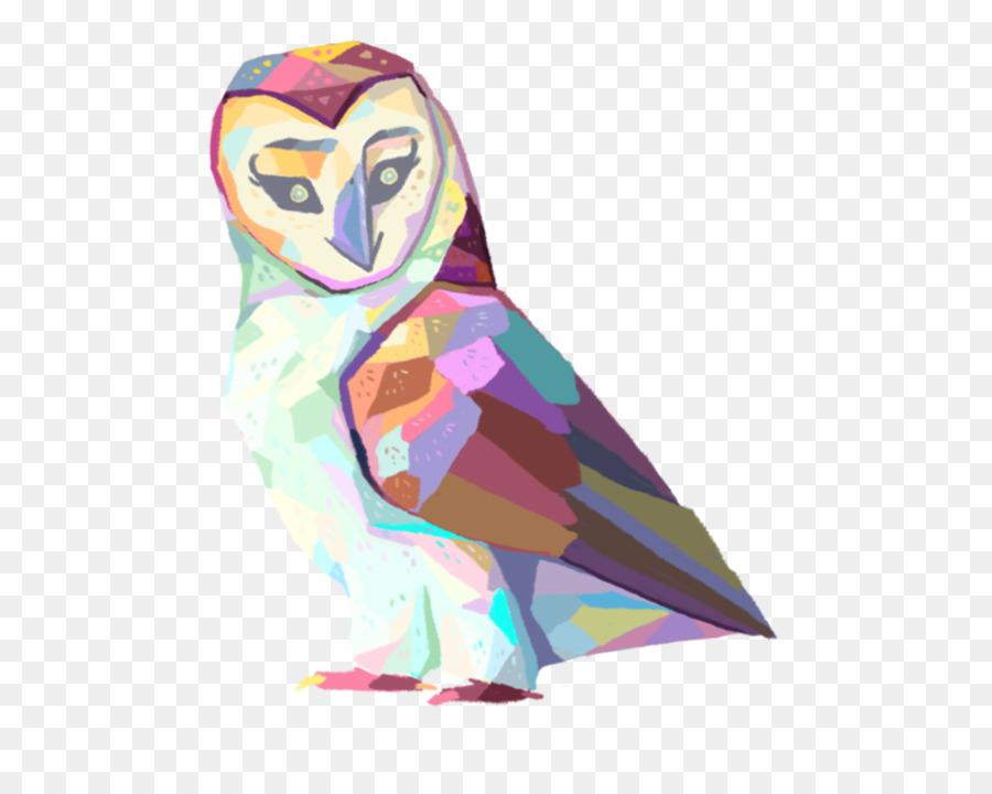 Owl Bird Geometry T-shirt Shape - watercolor animals png download