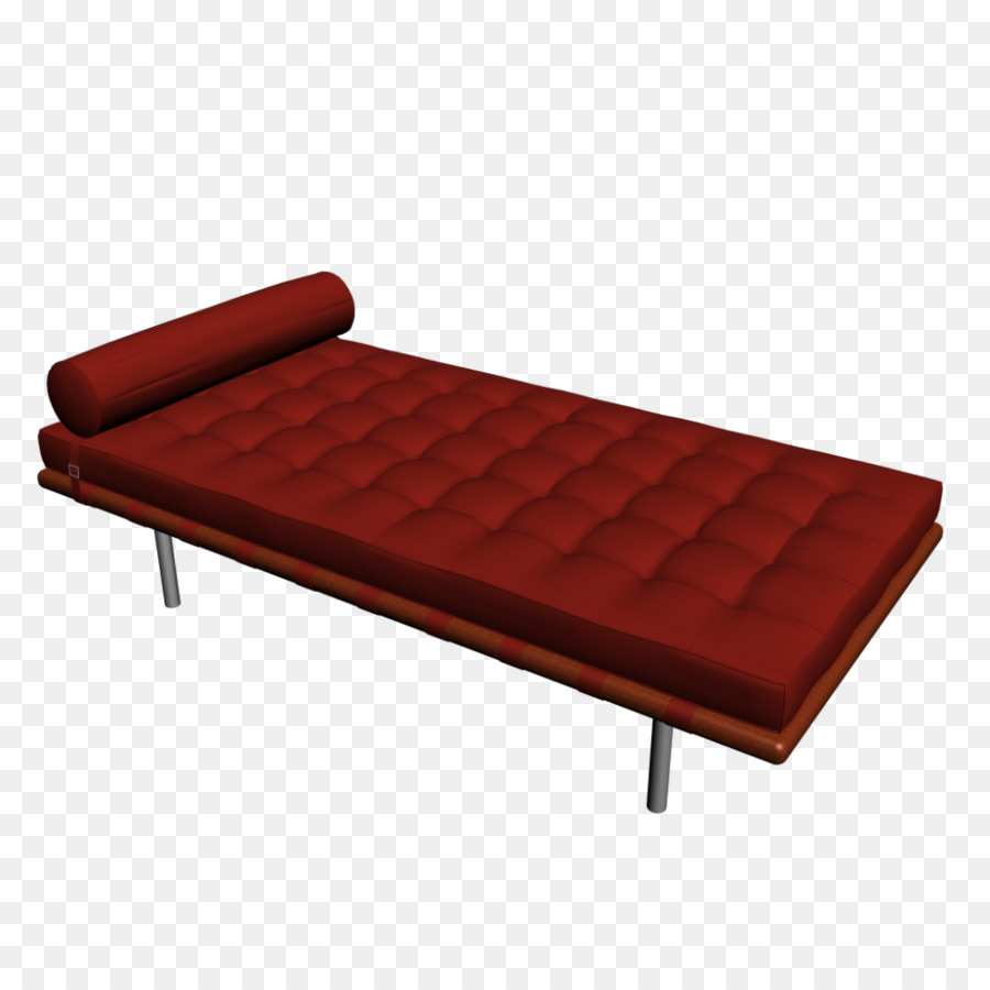 Chaise Barcelona Barcelona Chair Table Furniture Couch Daybed Bed Png Download