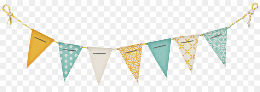 Paper Banner Flag Bunting Clip art - birthday banner png download
