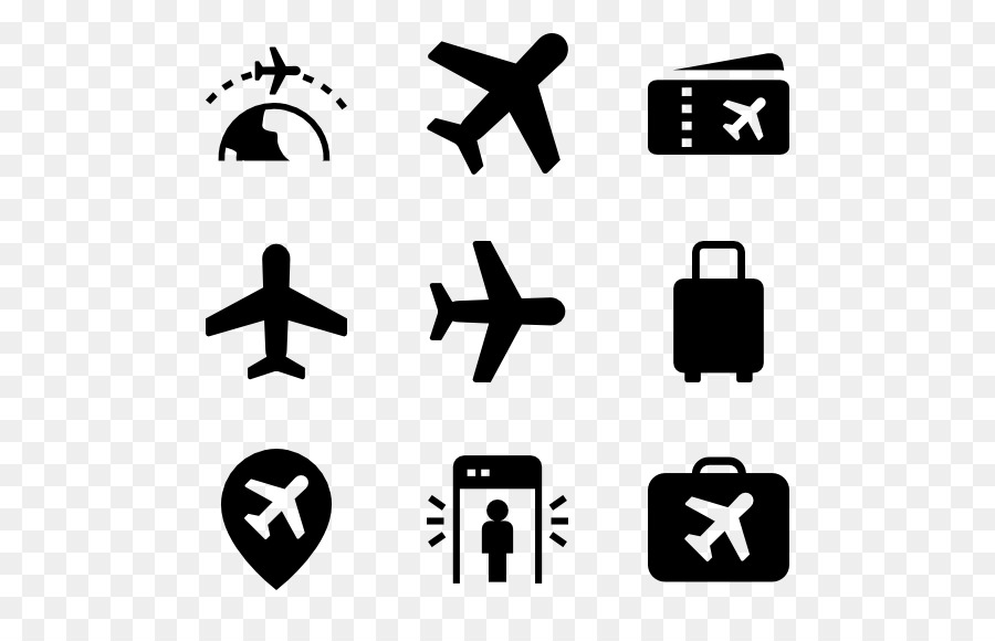 Airplane Computer Icons Symbol Clip art - pilot png download - 600 - cool copy and paste art