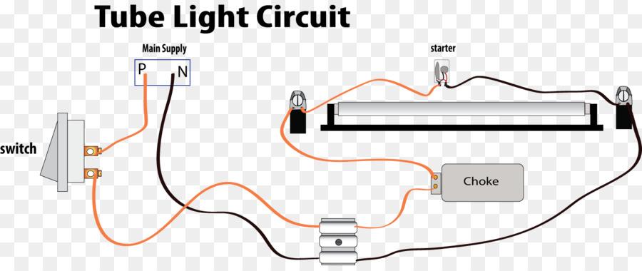 Wiring diagram Fluorescent lamp Circuit diagram Choke Electrical