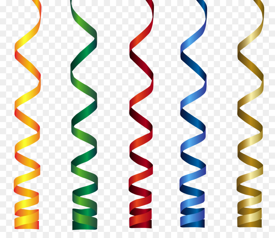 Ribbon Birthday Clip art - curly png download - 2567*2214 - Free