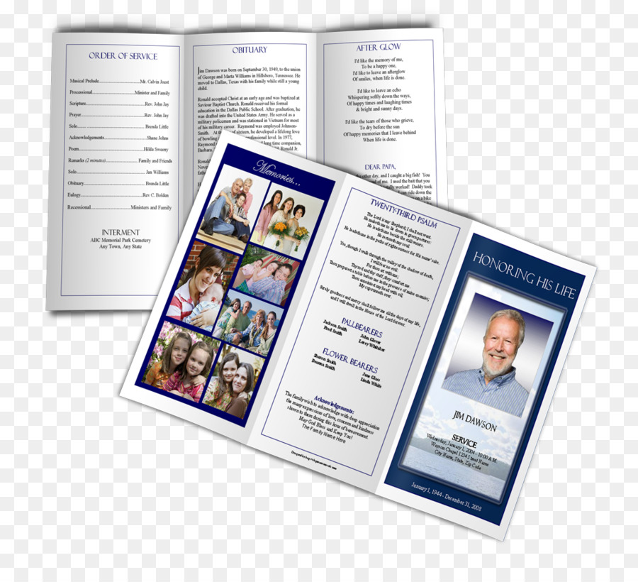 Funeral Brochure Template Page layout Pamphlet - pamphlet png - pamphlet layout template