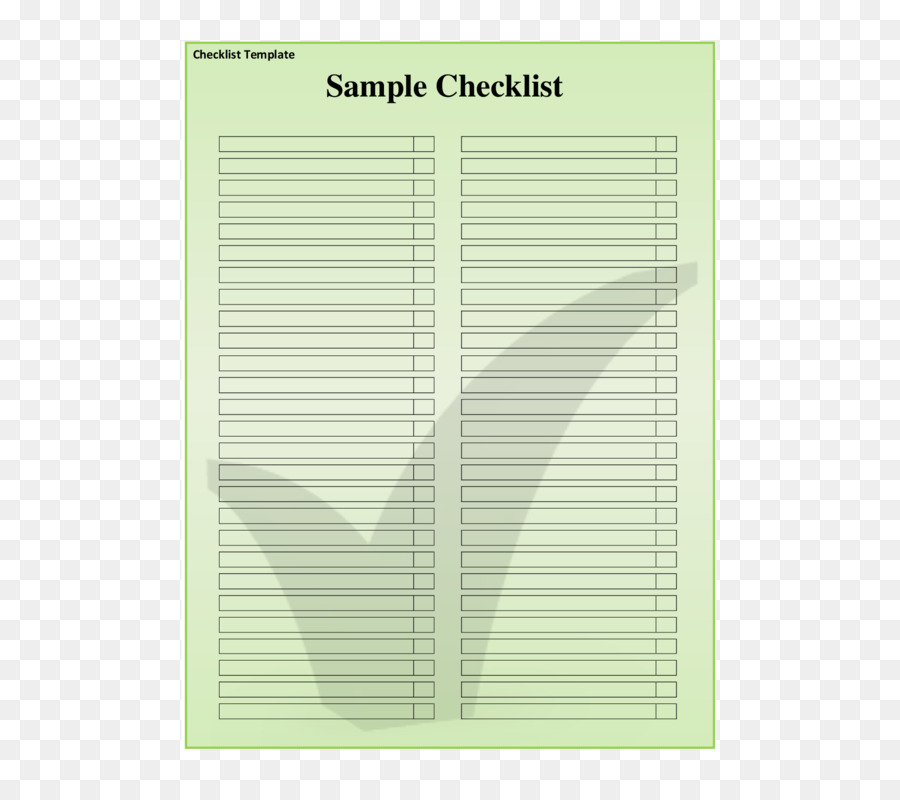 Paper Angle Notebook Line - checklist png download - 612*792 - Free