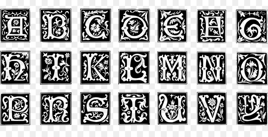 Decorative Letters Alphabet Illuminated manuscript - initials png