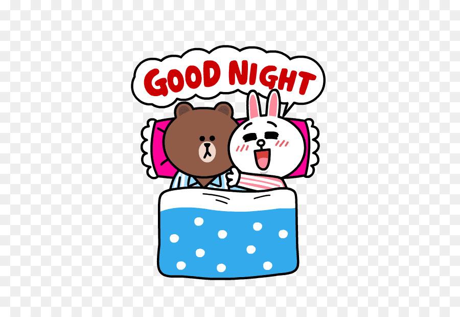 Sticker LINE Telegram Emoji iMessage - good night png download - 618