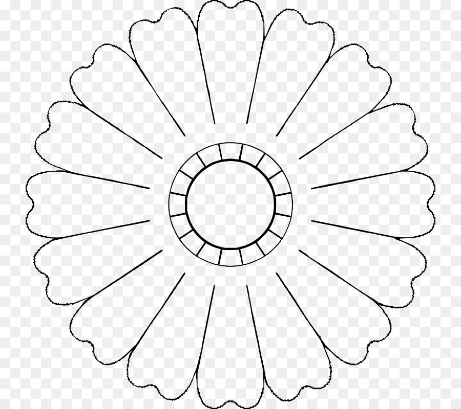 Flower Petal Template Clip art - flower petals png download - 800 - flower petal template