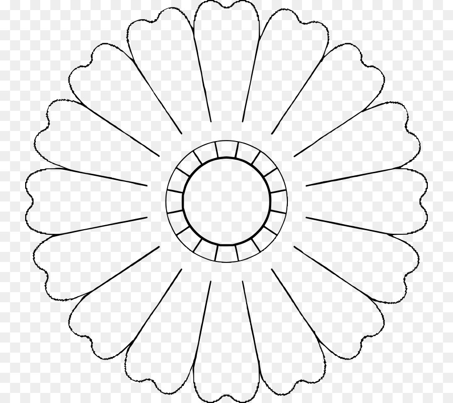 Flower Petal Template Clip art - flower petals png download - 800